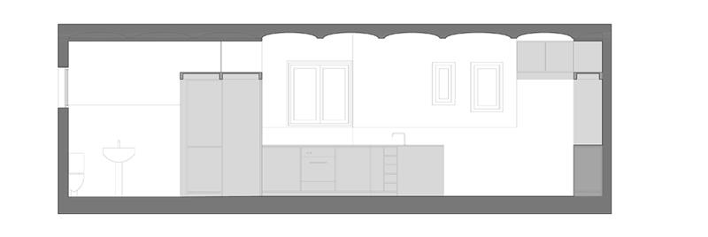 secció longitudinal sala-menjador